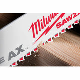 "Milwaukee 48-00-5026 9"" x 5/8TPI Bi-Metal AX Super Sawzall Blade 5-Pack"