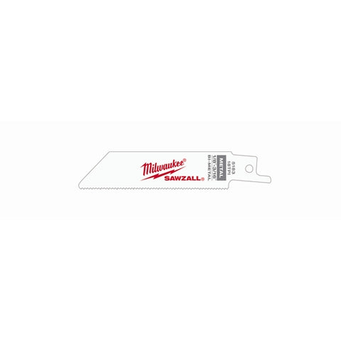 "Milwaukee 48-00-5183 4"" x 18TPI Bi-Metal Super Sawzall Blade"