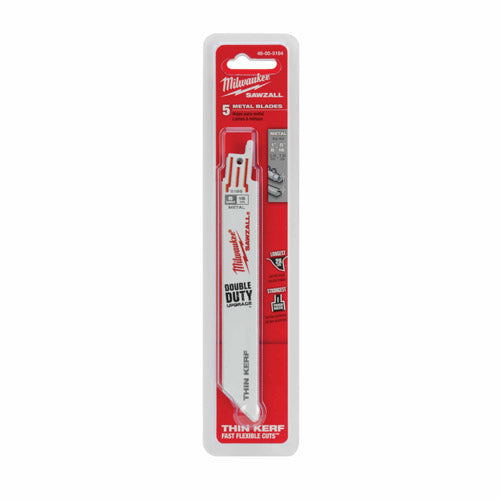 "Milwaukee 48-00-5184 6"" x 18TPI Bi-Metal Super Sawzall Blade"