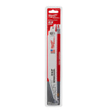 "Milwaukee 48-00-5706 9"" x 8 TPI Super Sawzall Wrecker Blade 5-Pack"