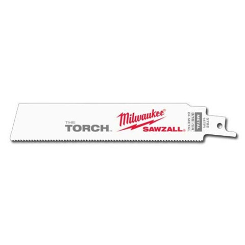 "Milwaukee 48-00-5782 6"" x 14TPI Super Sawzall Demolition Blade 5-Pack"