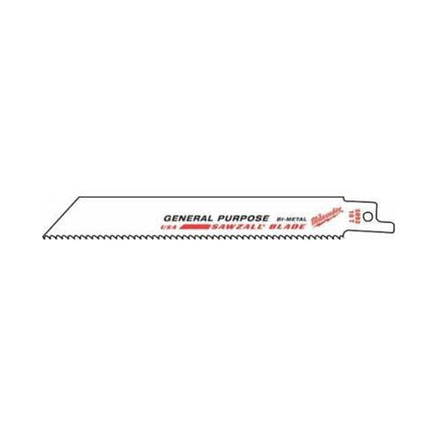 Milwaukee 48-01-7037 Super Sawzall Blade 5 Teeth per Inch 12-Inch Length