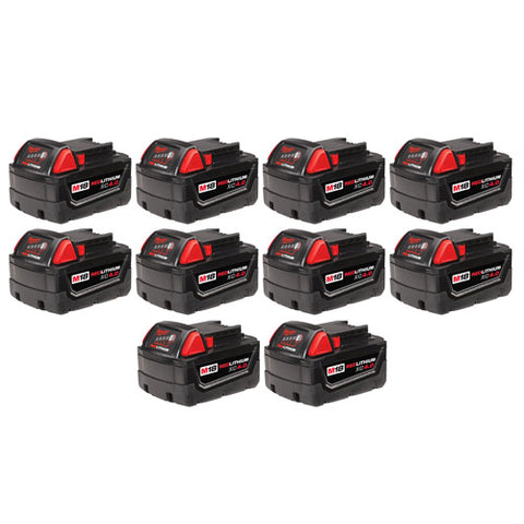 Milwaukee 48-11-1841 M18 REDLITHIUM XC 4.0 Extended Capacity Battery 10 Pack