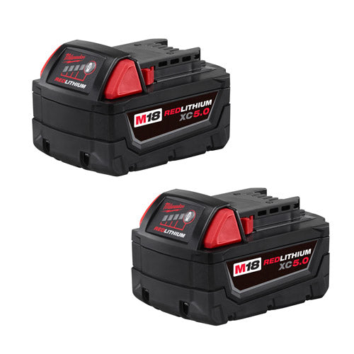 Milwaukee 48-11-1852 M18 REDLITHIUM XC 5.0 Extended Capacity Battery 2 Pack