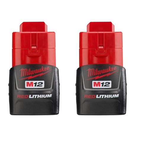 Milwaukee 48-11-2411 M12 REDLITHIUM Compact Battery Two Pack