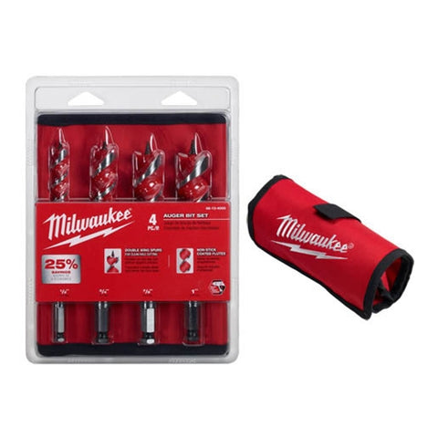 Milwaukee 48-13-4000 4-Piece Auger Bit Set