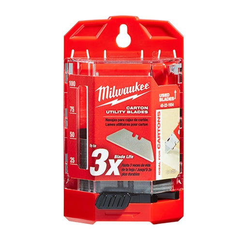 Milwaukee 48-22-1954 50 PC Carton Utility Knife Blades w/ Dispenser
