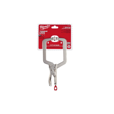 "Milwaukee 48-22-3523 9"" Deep Reach Swivel Locking C-Clamp"