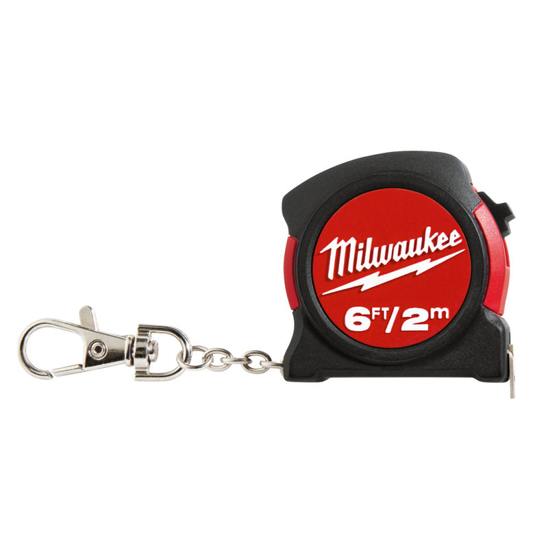 Milwaukee 48-22-5506 6ft / 2M KEYCHAIN TAPE MEASURE (Bulk)