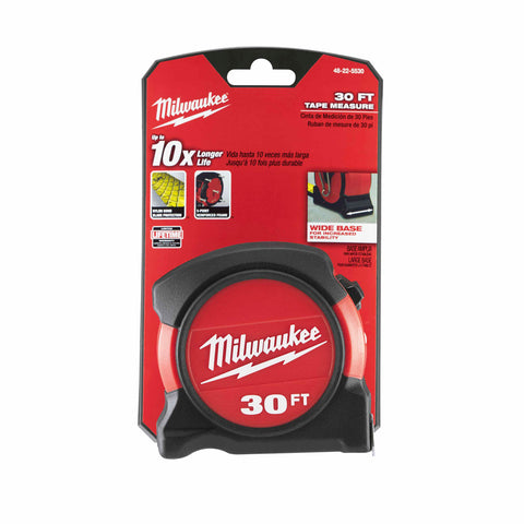 Milwaukee 48-22-5530 30ft General Contractor Tape Measure