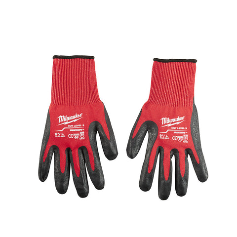 Large Cut 3 Dipped Gloves, Milwaukee Brand P/N 48-22-8932