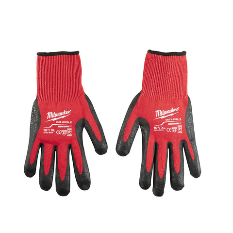Extra Large Cut 3 Dipped Gloves, Milwaukee Brand P/N 48-22-8933