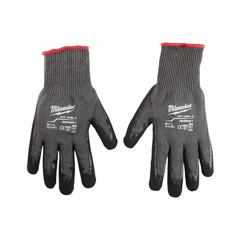 Large Cut 5 Dipped Gloves, Milwaukee Brand P/N 48-22-8952