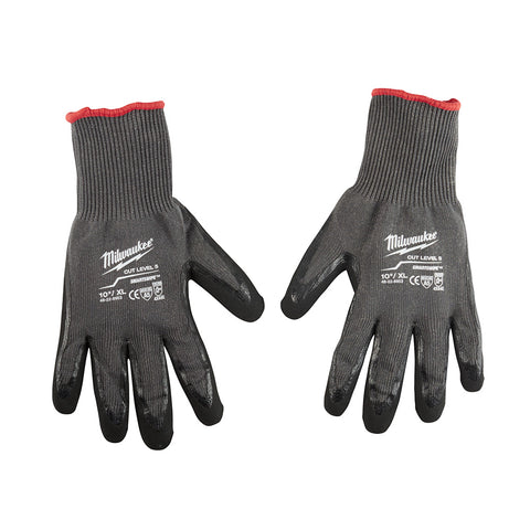 Extra Large Cut 5 Dipped Gloves, Milwaukee Brand P/N 48-22-8953