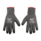 Double Extra Large Cut 5 Dipped Gloves, Milwaukee Brand P/N 48-22-8954