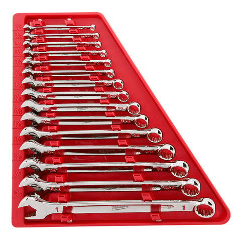 Milwaukee 48-22-9415 15 Piece Combination Wrench Set - SAE