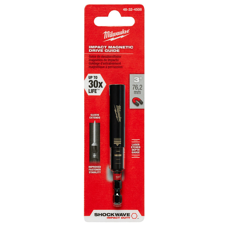"Milwaukee 48-32-4508 Shockwave 3"" Magnetic Drive Guide"