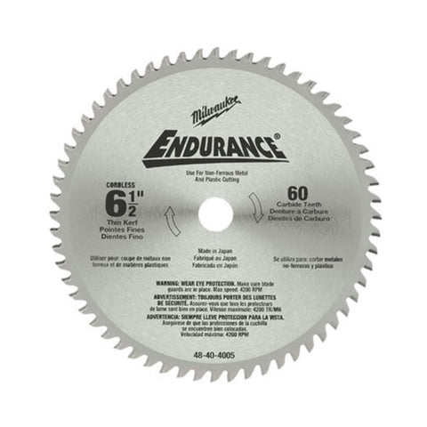 "Milwaukee 48-40-4005 6-1/2"" Non-Ferrous Metal Cutting Circular Saw Blade"