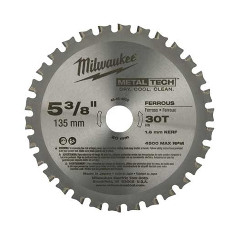 "Milwaukee 48-40-4070 5-3/8"" Metal Saw Blade 30 Tooth Ferrous"