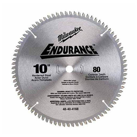 "Milwaukee 48-40-4168 10"" Non-Ferrous Metal Cutting Circular Saw Blade"