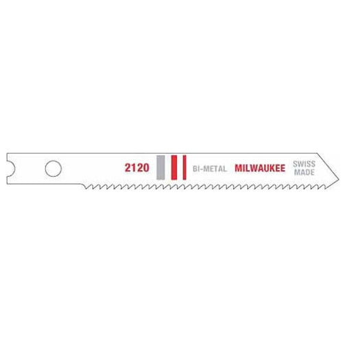 "Milwaukee 48-42-2120 2-3/4"" x 18TPI Bi-Metal Jig Saw Blade 5-Pack"