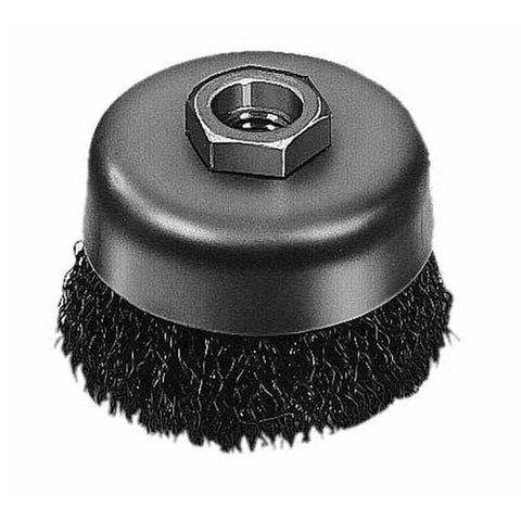 "Milwaukee 48-52-5060 3"" Crimped Wire Cup Brush- Carbon Steel"