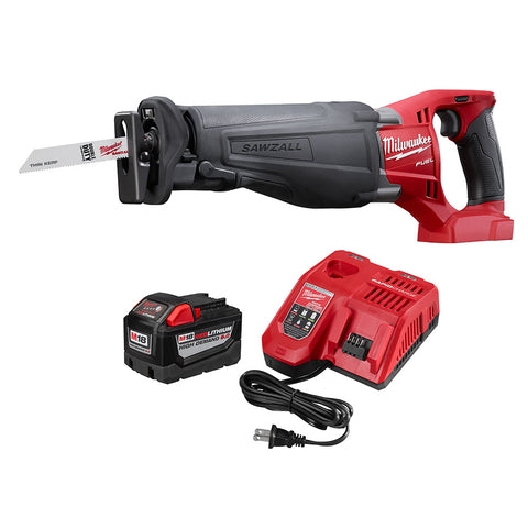 Milwaukee 48-59-1890PS M18 9.0 Starter Kit with FREE M18 FUEL Sawzall (2720-20)
