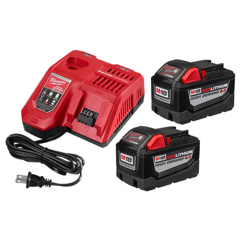 Milwaukee 48-59-1890P M18 High Demand 9.0 Starter Kit with Extra M18 9.0 Battery