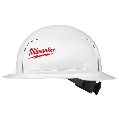Milwaukee 48-73-1010 Full Brim Hard Hat with BOLT Accessories  – Type 1 Class C