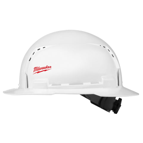 Milwaukee 48-73-1011 Full Brim Hard Hat with BOLT Accessories  – Type 1 Class C (Small Logo)
