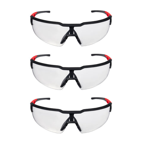 Milwaukee 48-73-2050 Clear Safety Glasses, 3 pack