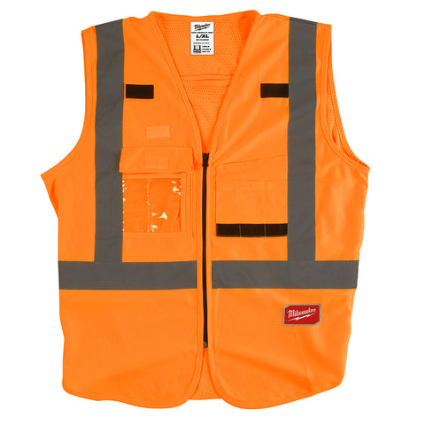 Milwaukee 48-73-5032 High Visibility Orange Safety Vest - L/XL