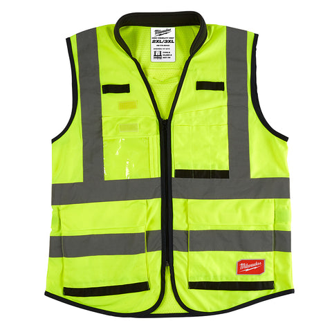 Milwaukee 48-73-5043 High Visibility Yellow Performance Safety Vest - XXL/XXXL