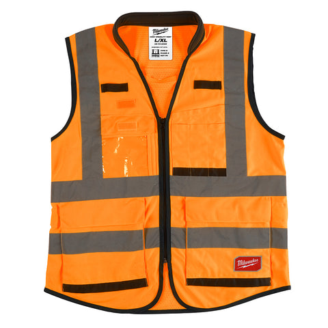 Milwaukee 48-73-5052 High Visibility Orange Performance Safety Vest - L/XL