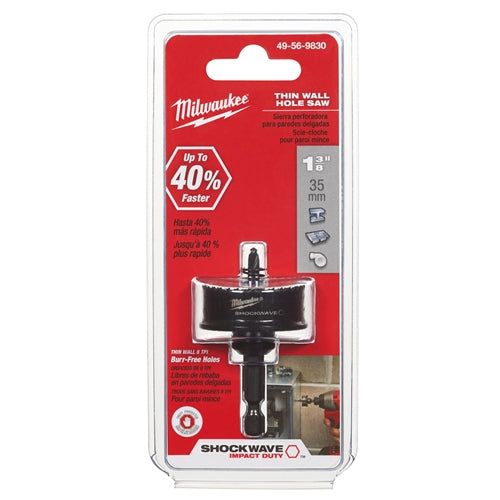 "Milwaukee 49-56-9830 1-3/8""  Shockwave Hole Saw"
