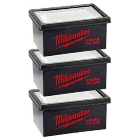 Milwaukee 49-90-2306 M12 HAMMERVAC Filters 3-Pack