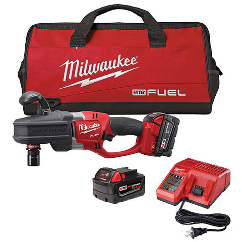 Milwaukee 2708-22 M18 FUEL Hole Hawg Right Angle Drill Kit w/ QUIK-LOK