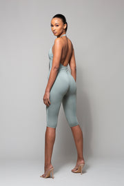 MUSE- MINERAL HALTER NECK JUMPSUIT