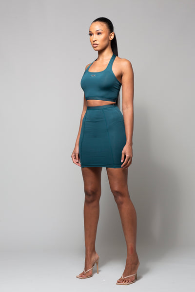 KIKU - TEAL GREEN TWO PIECE SET