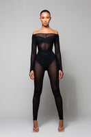 TRIX - BLACK MESH TWO PIECE SET