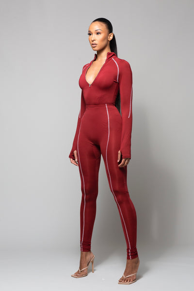 BLAZE- BURGUNDY REVERSIBLE TWO PIECE SET