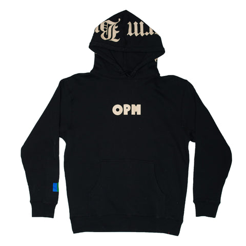 WB X OPM Hoodie (Off White on Black)