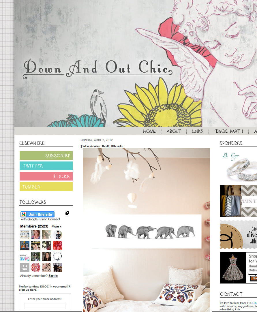 Penny Farthing Design House on Down and Out Chic