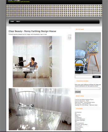 Penny Farthing Design House on Little Nudge