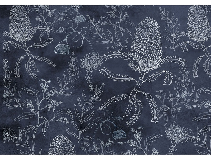 Banksia Pattern Blue