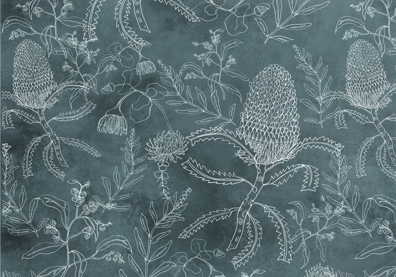 Banksia Pattern Green