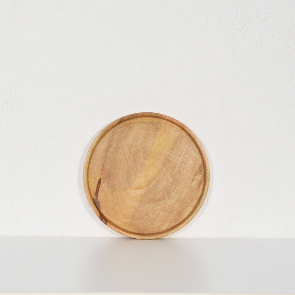 Small Round Natural Tray