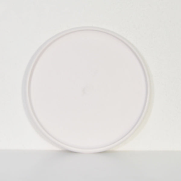 White Tray with Rounded Base