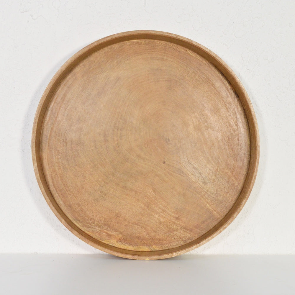 Round Natural Deep Tray