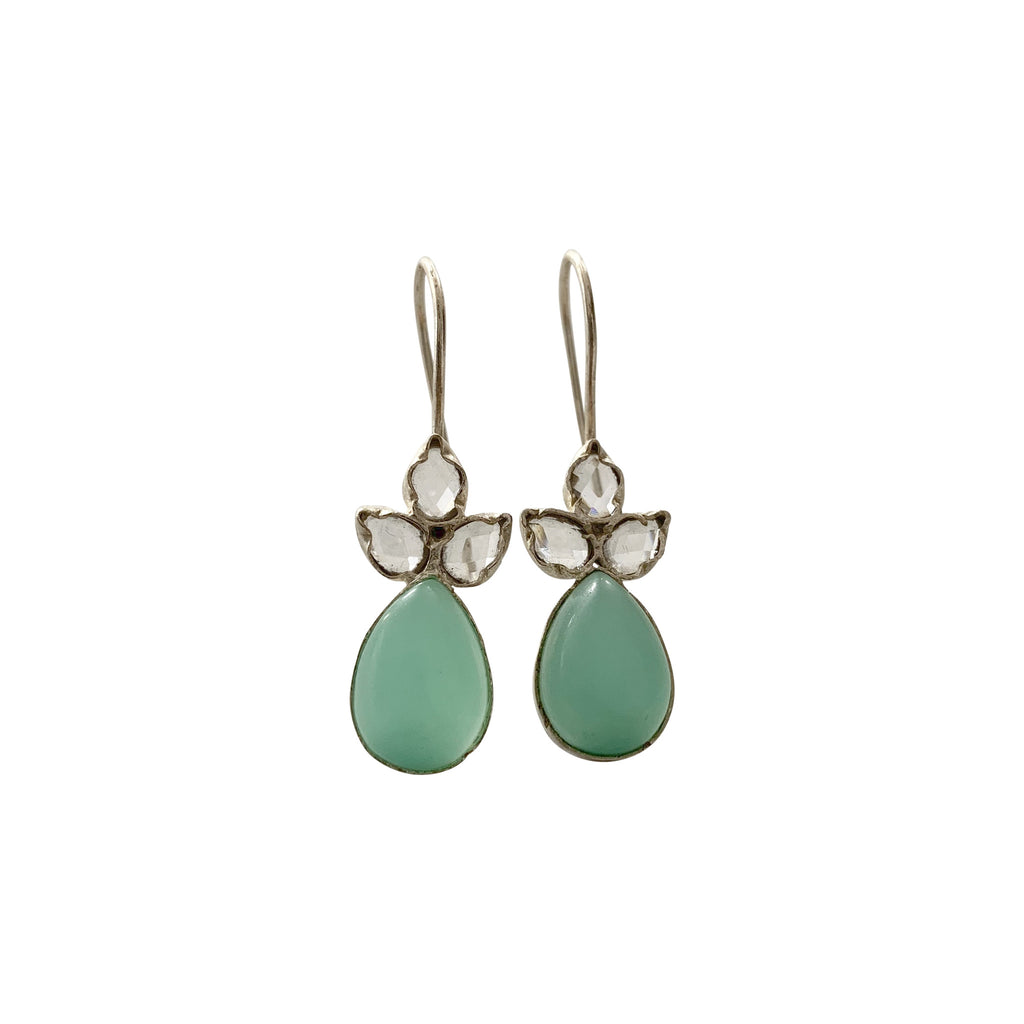 Angel Aqua Chalcedony Earrings